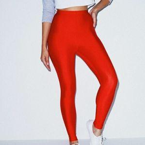 American Apparel Red High Waist Leggings